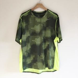 Nike Dri-FIT Neon Geometric Pattern Tee